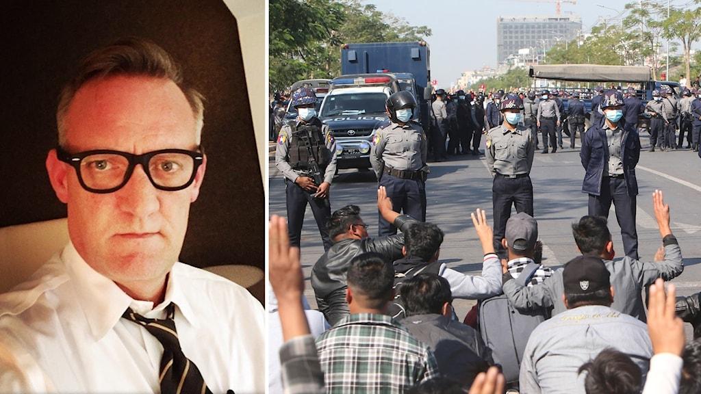 David Mathieson är expert på  konflikter i Myanmar