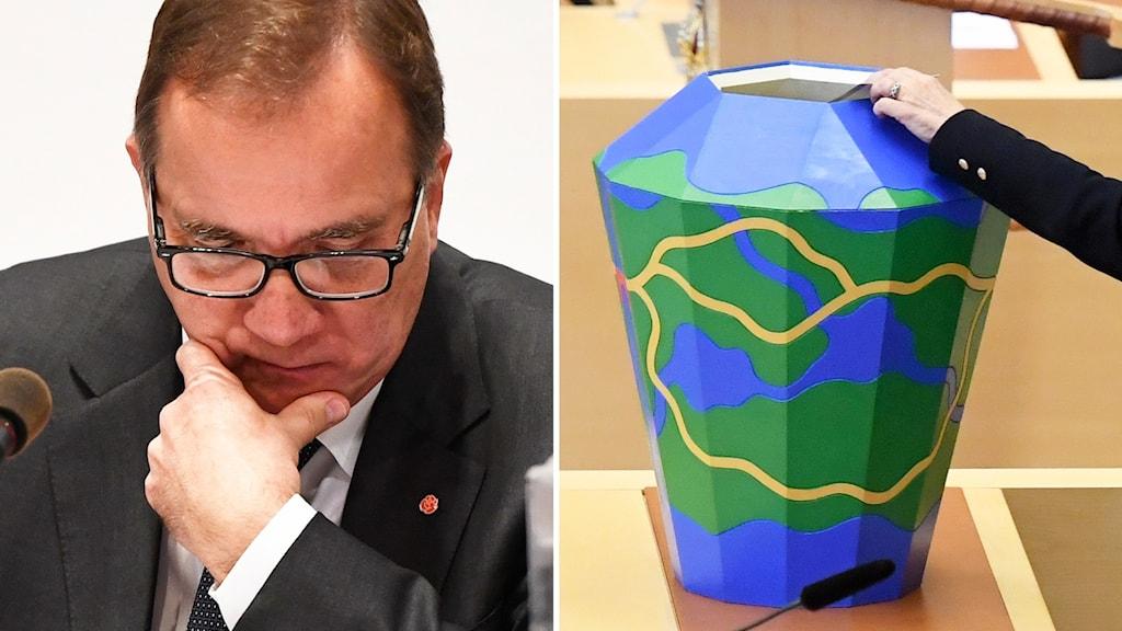 Löfven omröstning split
