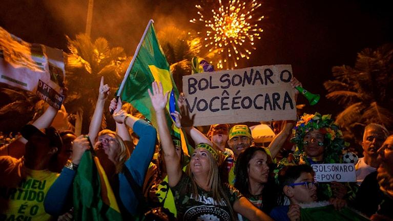 Firande efter Bolsonaros valseger