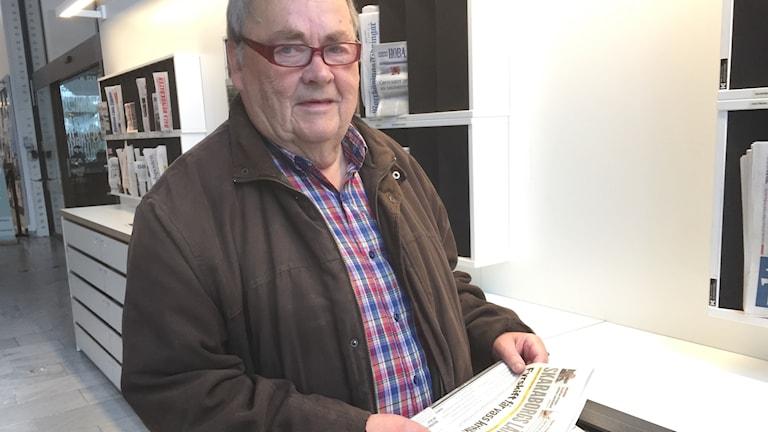 Ove Säll, tidningsläsare i Jönköping.