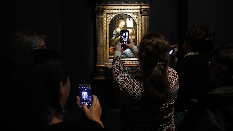 Leonardo Da Vincis utställning på Louvren i Paris.
