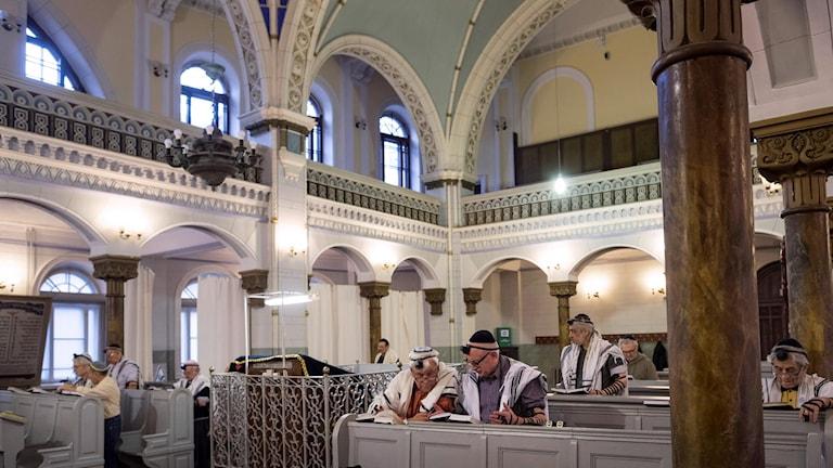 Synagogan i Vilnius en novembermorgon 2018.