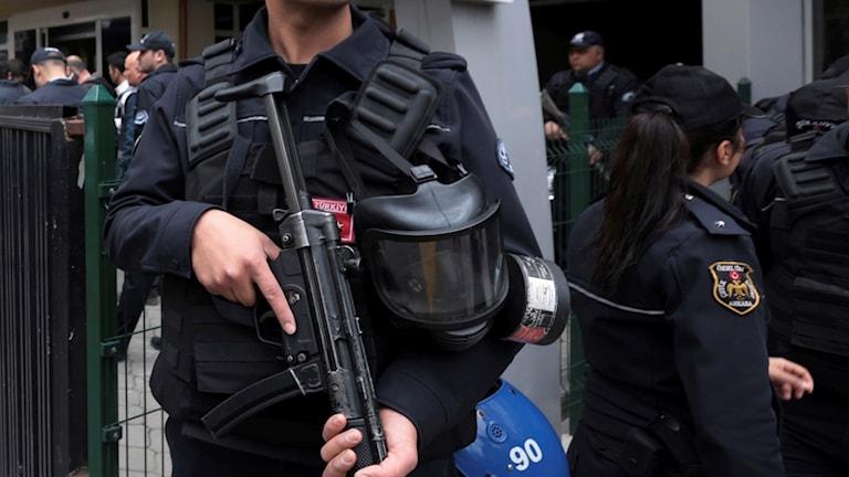Polis i Ankara.