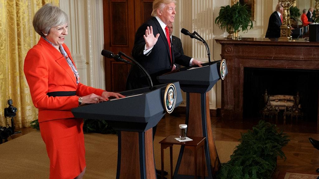 USA:s president Donald Trump och Storbritanniens premiärminister Theresa May.