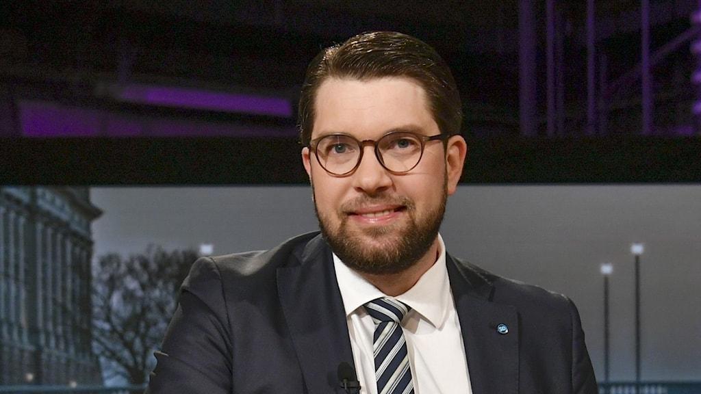 Sverigedemokraternas partiledare Jimmie Åkesson (SD).
