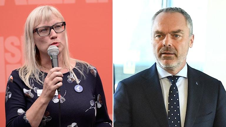 Malin Sjöberg Högrell och Jan Björklund