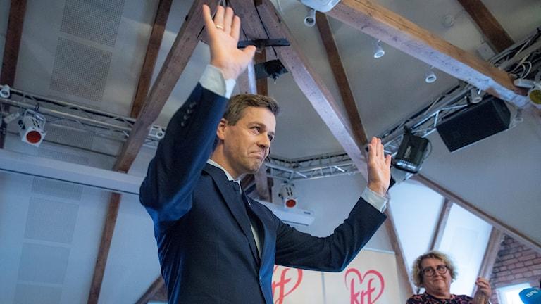 Partiledaren i Kristerlig Folkeparti, Knut Arild Hareide