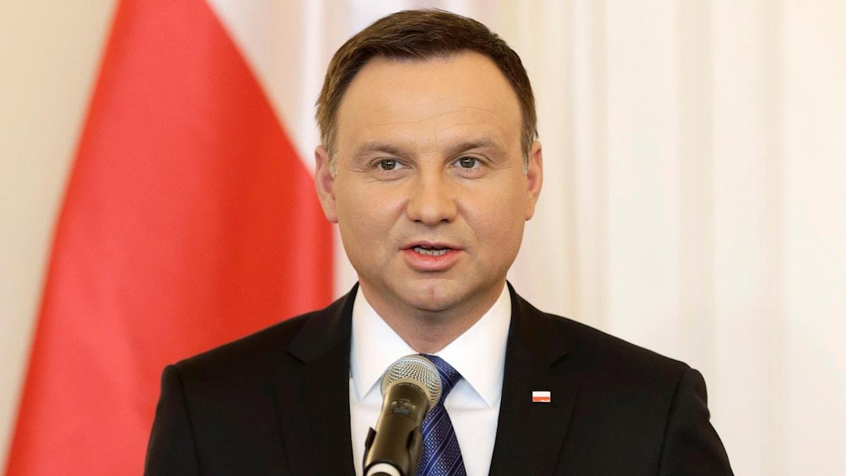 Polens president Andrzej Duda är under press Foro: Petr David Josek /TT