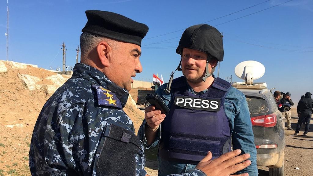Johan Mathias Sommarström på fältet i Jemen.