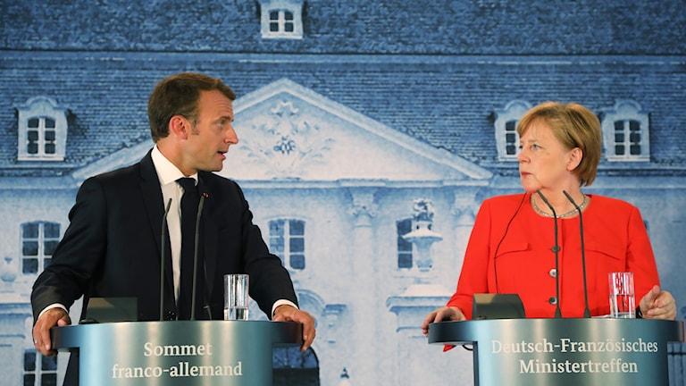 Macron och Merkel