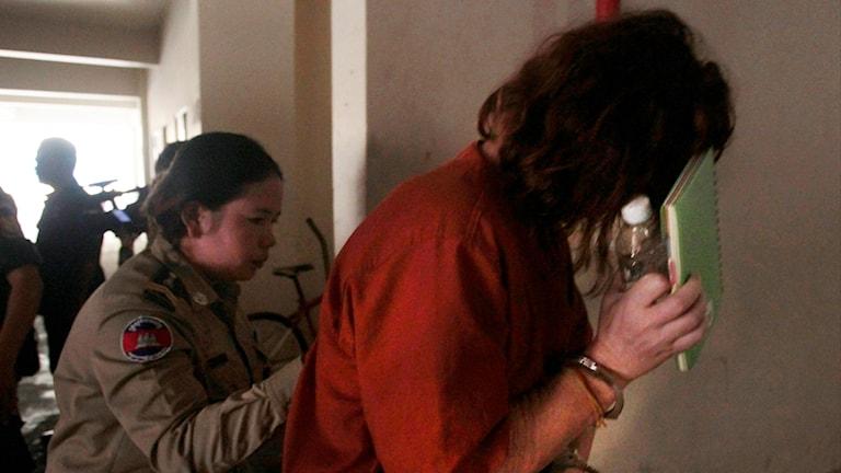 Den australiska sjuksköterskan som dömdes till ett och ett halvt års fängelse för att ha drivit en surrogatklinik i Kambodja.