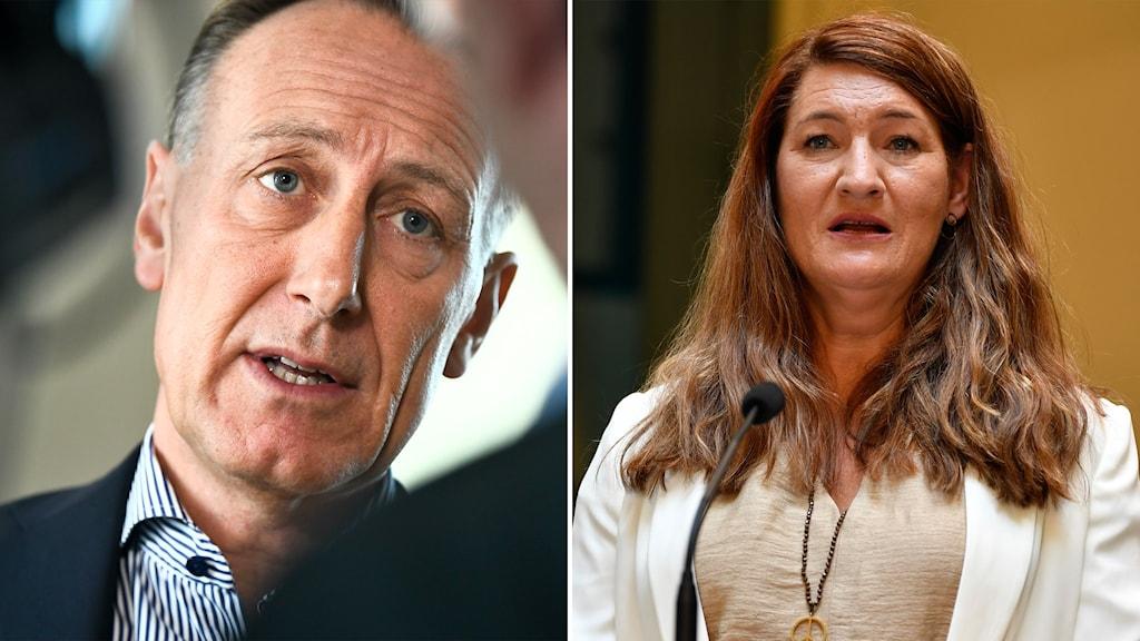 Svenskt näringslivs vd Jan-Olof Jacke och LO:s ordförande Susanna Gideonsson.