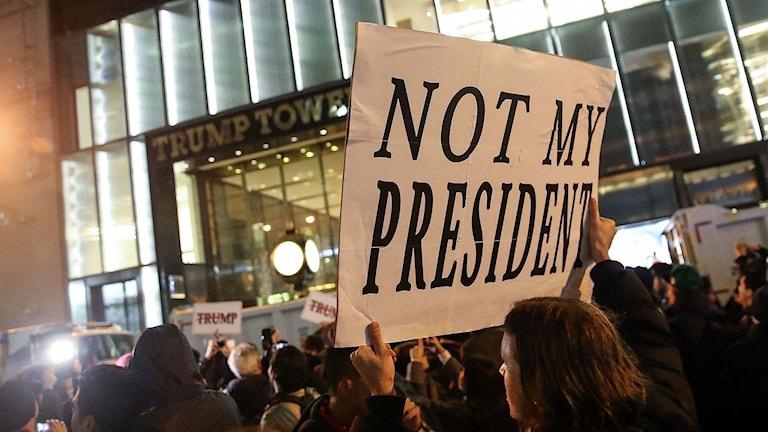 Demonstration mot Donald Trump.
