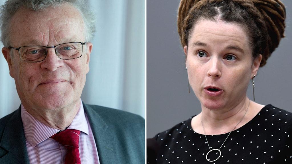 Björn Eriksson, ordförande för Riksidrottsförbundet, och Kultur- och idrottsminister Amanda Lind.
