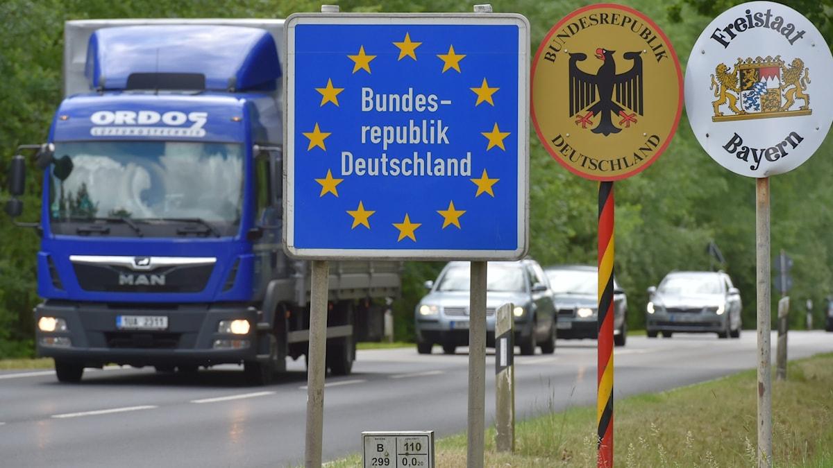 Skylt med texten Tyskland