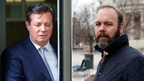 President Trumps tidigare kampanjchef Paul Manafort och hans medarbetare Rick Gates.