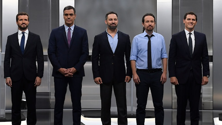 Spaniens fem partiledare