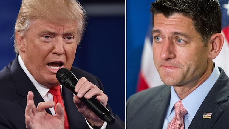 Donald Trump och Paul Ryan.