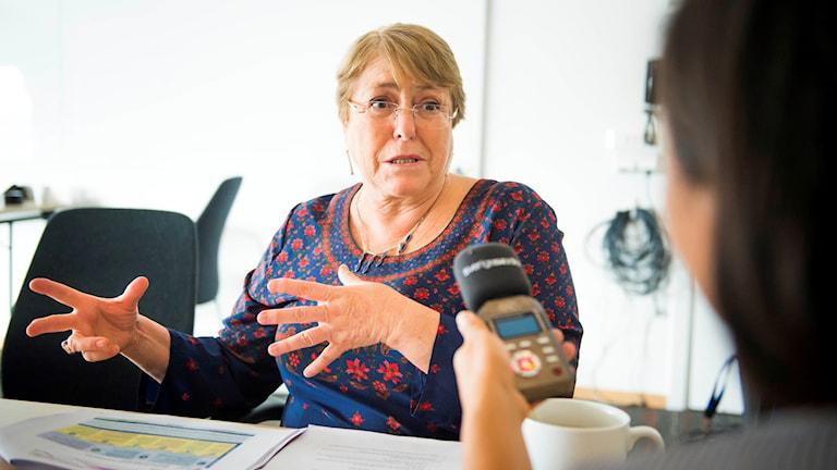 Chiles tidigare president Michelle Bachelet, ordförande för det internationella partnerskapet för kvinnor, ungdomar och barns hälsa (PMNCH) och tillträdande människorättschef i FN