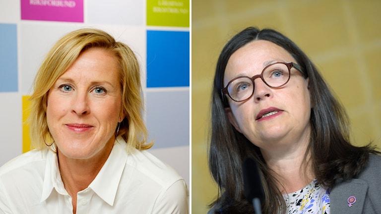 Gymnasieminister Anna Ekström och Lärarnas riksförbunds ordförande Åsa Fahlén.