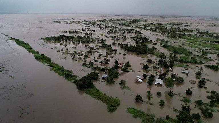 Moçambique efter cyklonen Idai.