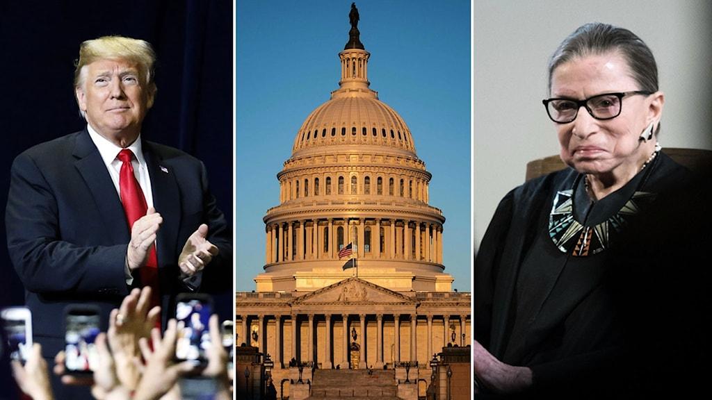Donald Trump. Capitol Hill. Ruth Bader Ginsburg.