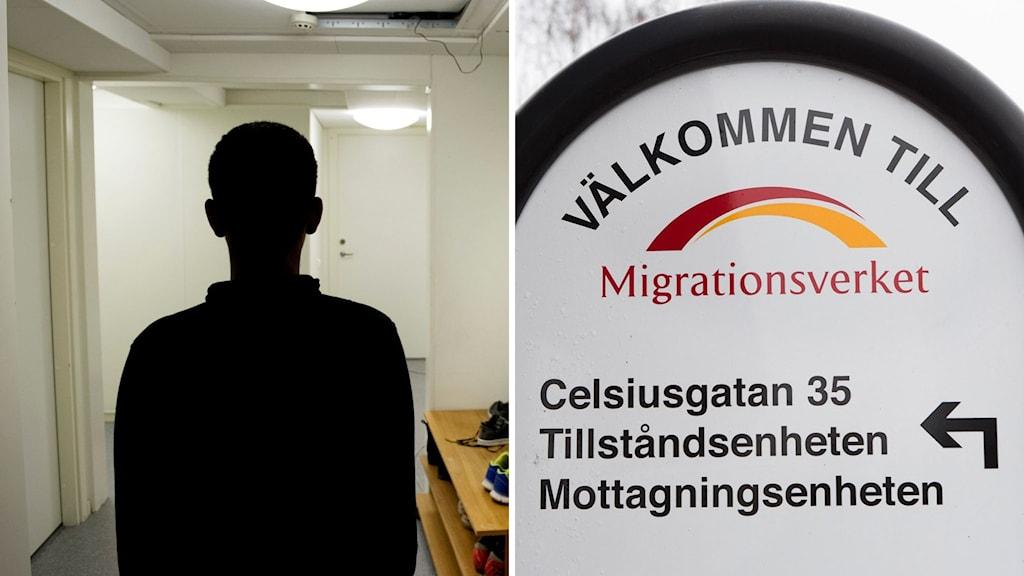 Anonym bild på ensamkommande asylsökande