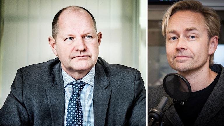 Dan Eliasson, rikspolischef och Fredrik Furtenbach, Ekots inrikespolitiska kommentator.