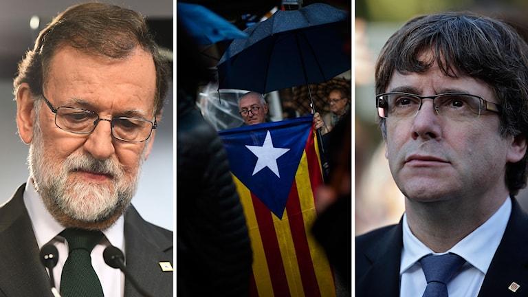 Mariano Rajoy och Carles Puigdemont.