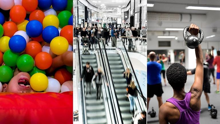 Bollhav, galleria och gym