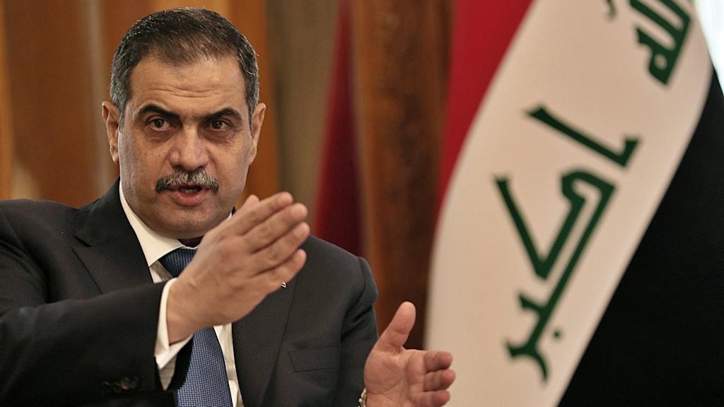 Iraks före detta försvarsminister Najah al-Shammari.