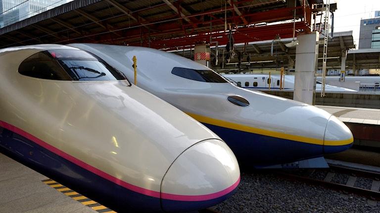 Japanska höghastighetståg