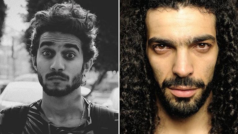 Porträtt av Shady Habash och Ramy Essam