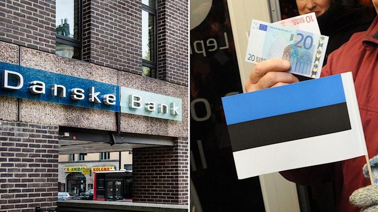 Danske Bank och Estlands flagga