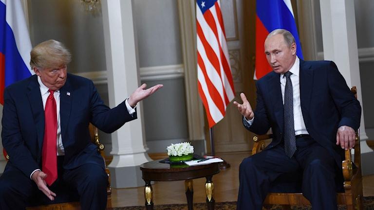 Trump och Putin.