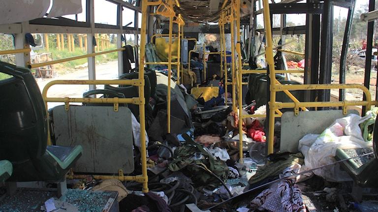 Förstörd buss