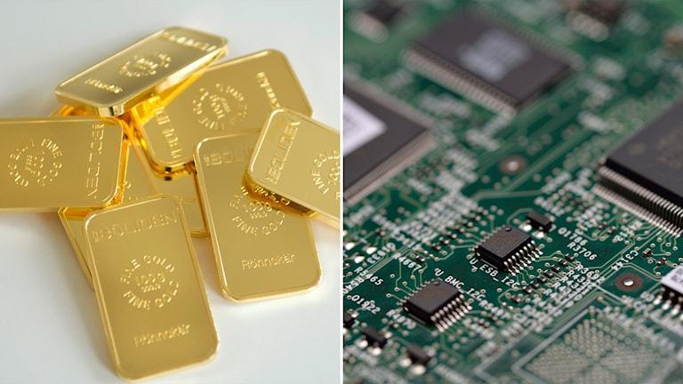Råvaror har gått bra på börsen i år, men elektronikbranscher har haft det tuffare.