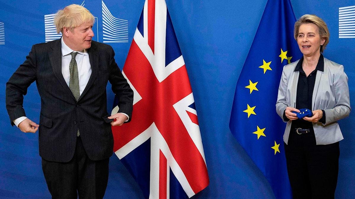 Boris Johnson och Ursula von der Leyen.