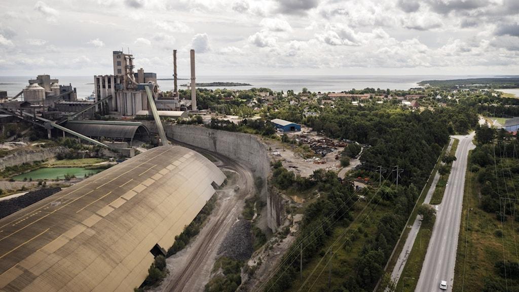 Cementas fabrik i Slite.