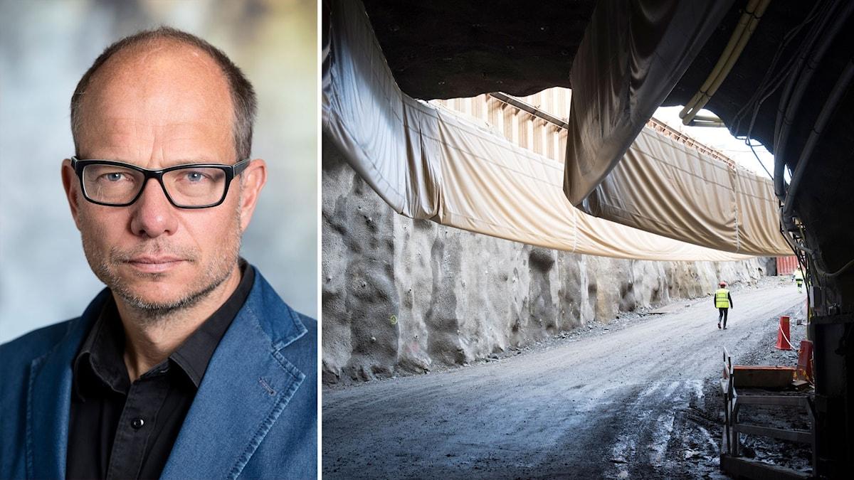 Johan Brantmark, projektchef för Förbifart Stockholm och projektets tunnelbygge i Vinsta.