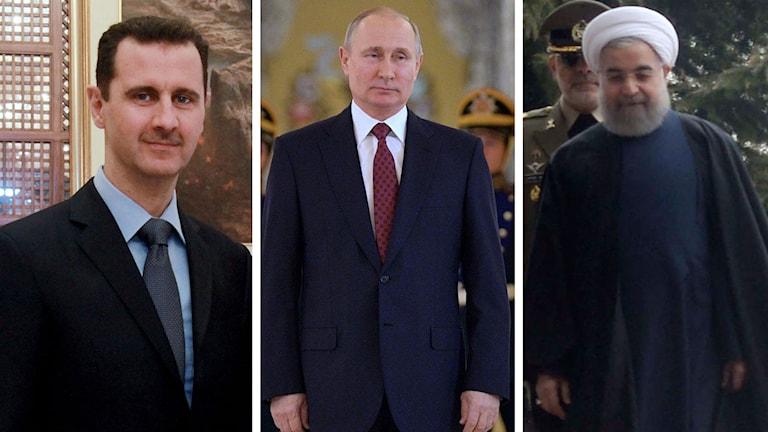 Split Assad Putin Rohani