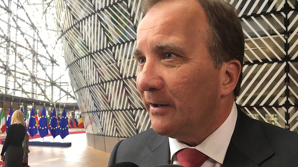 Stefan Lövfen toppmöte i Bryssel