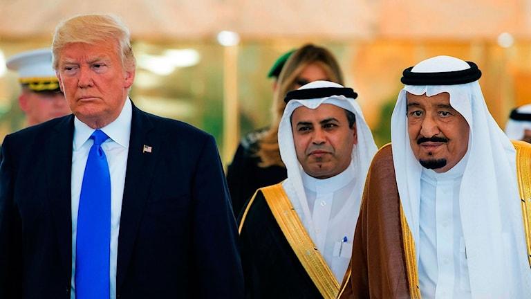 President Donald Trump besöker Saudiarabien på sin första officiella utrikesresa