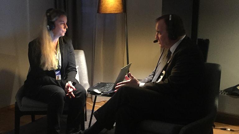 Löfven under intervju i P1-morgon