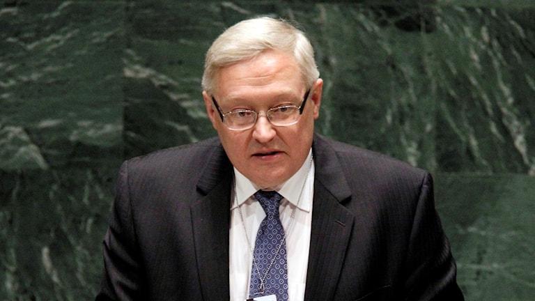 vice utrikesministern Sergej Ryabkov