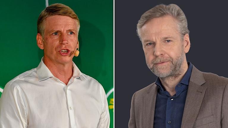 Per Bolund, språkrör MP och Tomas Ramberg, Ekots inrikespolitiske kommentator.