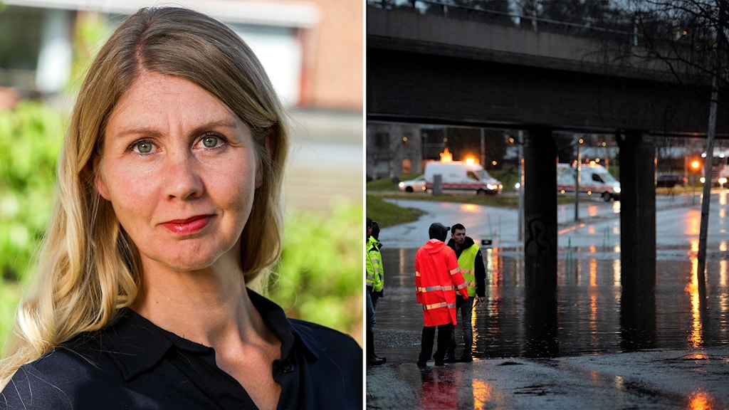 Åsa Sjöström vid Nationellt kunskapscentrum för klimatanpassningar vid SMHI och översvämning i Umeå