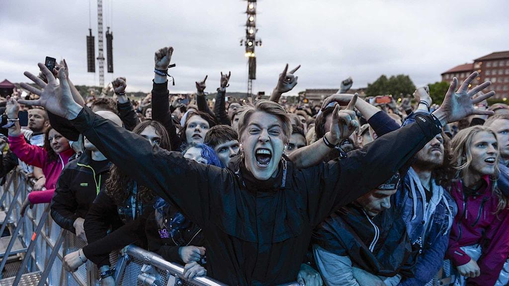 Publik på Metallicas konsert på Sthlm Fields på Gärdet i Stockholm. Foto: Per Larsson/TT.