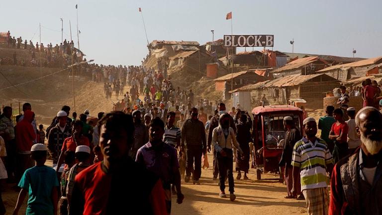 Flyktinglägret Coxs Bazar i Bangladesh.