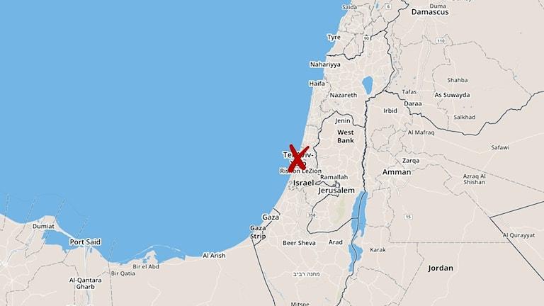 Explosionen ägde rum i Jaffa i södra Tel Aviv